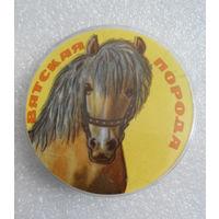 Значок. Лошади. Вятская порода #0147
