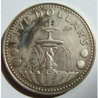 Барбадос 5 долларов 1976  г