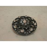 Пряжка для ремня металл Германия диаметр 6.5 см.