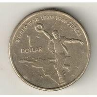 Австралия 1 доллар 2005 60 лет со дня окончания Второй мировой войны