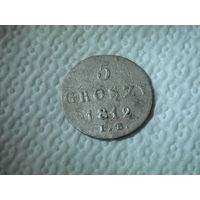 5 грошей 1812 г.Перечекан с 1/24 талера