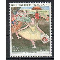 Живопись Франция  1970 год серия из 1 марки