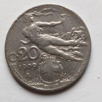 Италия 20 чентезимо, 1909 2-11-13