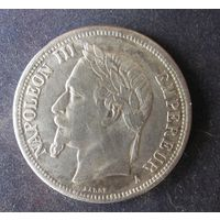 ФРАНЦИЯ 5 ФРАНКОВ 1861