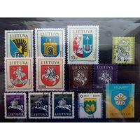 Литва-Эстония,гербы,сборный лот
