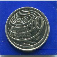 Каймановы острова 10 центов 1992