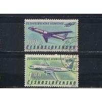 Чехословакия ЧССР 1963 40 летие Чехословацкие авиалинии ТУ-104А,Ил-18Б Полная #1405-6