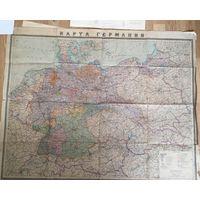 Карта Германии 1945 год