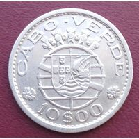 Кабо Верде 10 эскудо 1953, серебро