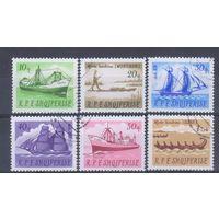 [417] Албания 1965. Корабли.Парусники. Гашеная серия.