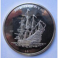 Кот-д Ивуар. (Берег слоновой. Верхняя Вольта) 1000 франков 2010 Корабль. Редкая. Серебро (390)