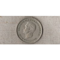 Великобритания 1 крона 5 шиллингов 1951 /(Ji)