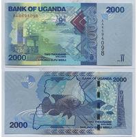 Распродажа коллекции. Уганда. 2 000 шиллингов 2010 года (P-50а - 2010-2019 Issue)