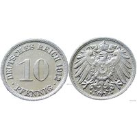 YS: Германия, Рейх, 10 пфеннигов 1912F, KM# 12 (3)