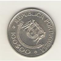 100 эскудо 1989 г. Открытие Канарских островов.