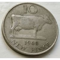 Гернси 10 новых пенсов, 1968  1-5-22