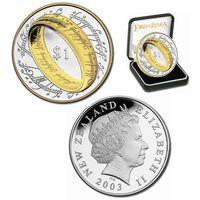 Новая Зеландия 1 доллар, 2003 год. Властелин Колец. Кольцо Всевластия
