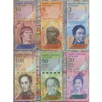 Распродажа коллекции. Венесуэла. Hабор из 21 банкноты (2007-2017 Issue & 2018-2019 Currency Reform Issue)