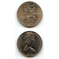 Новая Зеландия 1 доллар 1974 г. KM#44 (Игры Британского Содружества наций 1974 г. в Крайстчёрче)