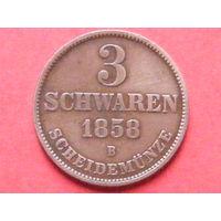 3 шварена 1858 года Великое герцогство Ольденбург