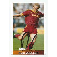 Rudi Voller(Рома, Италия). Живой автограф на фотографии.