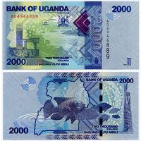 2000 шиллингов 2010, Уганда. UNC