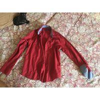 Рубашка мужская красная, размер M