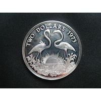 Багамские о-ва 2 доллара 1973 года.