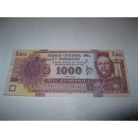 Парагвай 1000 гуарани 2005 года
