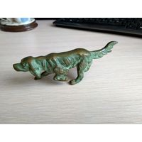 """Коллекционная свинцовая статуэтка собаки """"Ирландский сеттер"""""""
