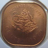 Свазиленд 2 цента 1975 г. ФАО. В холдере (gk)