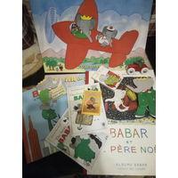 Жан де Брюнофф набор книг Приключения Бабара на английском языке и игрушек