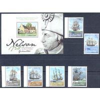 Гибралтар 2008 Адмирал Нельсон. Корабли, 6 марок + блок