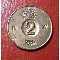 24-09 Швеция, 2 эре 1964 г.