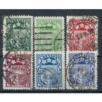 Латвия, гражданская война - 1921г. - гербы, геральдика - 6 марок - гашёные (Лот 85М). Без МЦ!