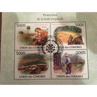 Коморские острова 2010. Уничтожение тропических лесов (блок)