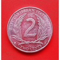 47-07 Восточные Карибы, 2 цента 2011 г.
