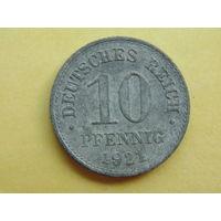 Германия. Рейх, 10 пфеннигов 1921 г.