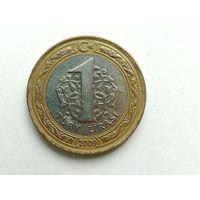 1 лира 2009 года. Турция. Монета А3-3-12