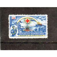 Доминиканская республика.Ми-445.Поле битвы и медсестра с ребенком.Красный крест. 1944.