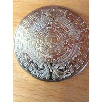 Сувенирная монета календарь майя.MEXICO