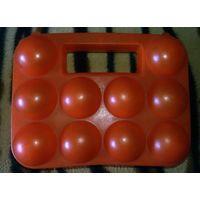 Контейнер для яиц, как новый, оранжевый