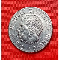 40-04 Швеция, 1 крона 1968 г. Единственное предложение монеты данного года на АУ