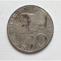 Австрия 10 шиллингов, 1958 Ag 5-4-3