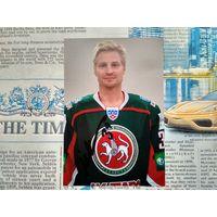 Нико Капанен, бывший финский хоккеист, центральный нападающий. Фотография с автографом.