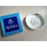 Тарелка, блюдце, фарфор, Англия Aynsley, в оригинальной коробке