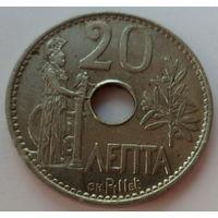 """Греция 20 лепт 1912 """"Богиня Афина и оливковая ветвь"""""""