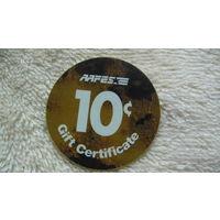 США 10 центов, используется на Американских, военных базах. распродажа