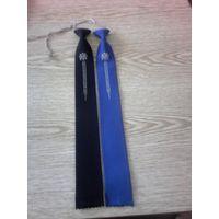 Оригинальный импортный галстук времен СССР с орнаментом и камешком