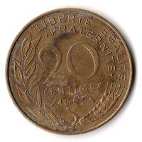 Франция 20 сантимов 1965